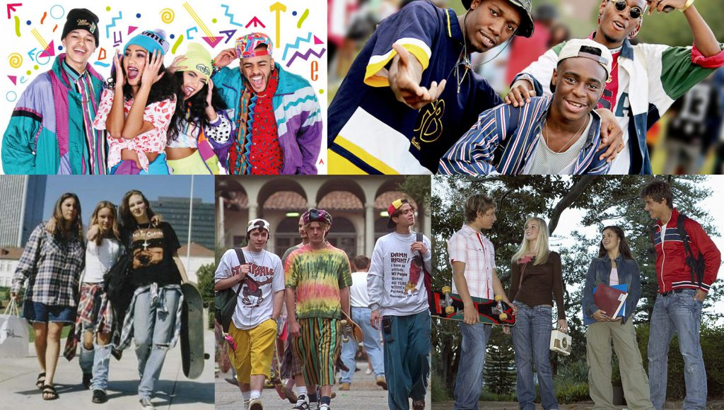 back-2-school in the 90s - teens fashion style - overnightprints