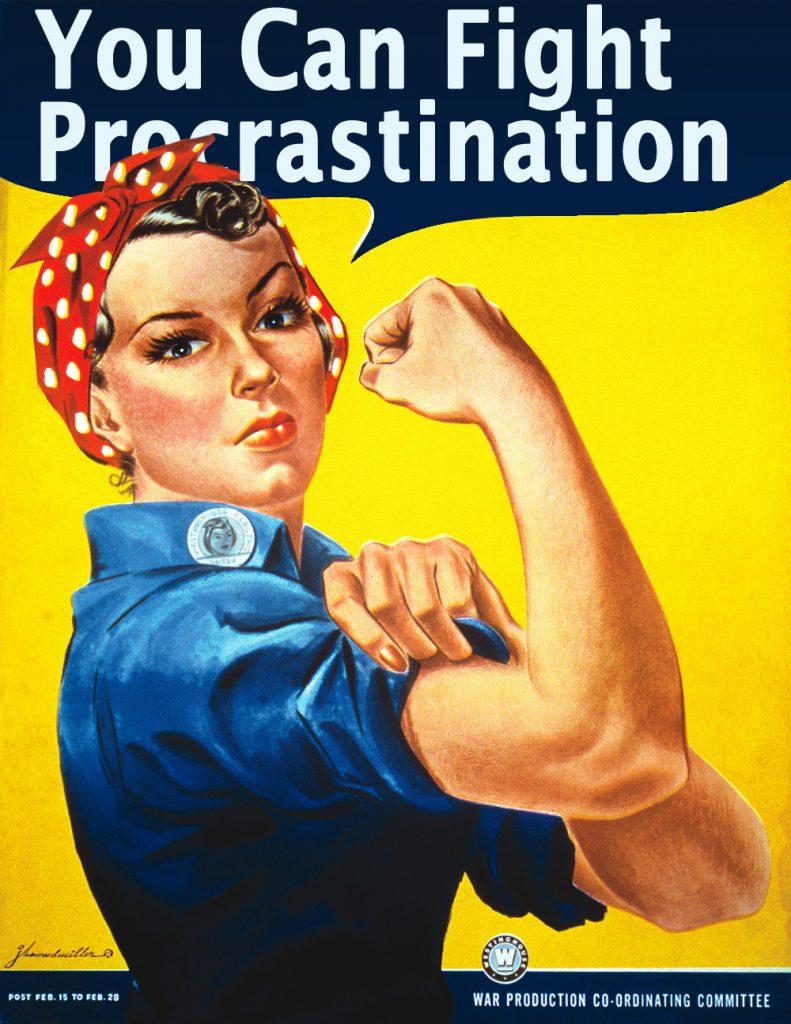 national fight procrastination day overnight prints