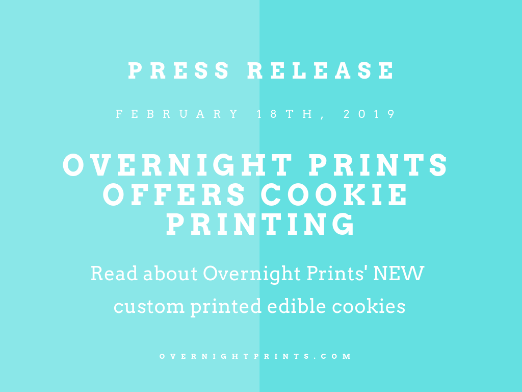 Overnight Prints Offers Cookie Printing