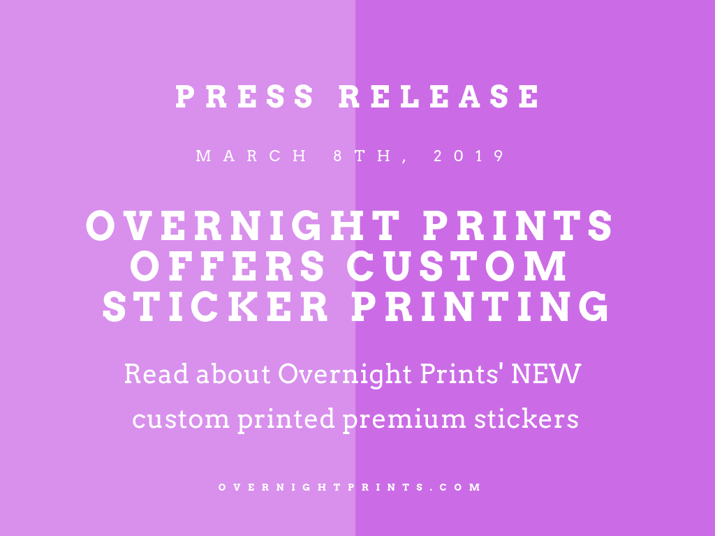 Overnight Prints Offers Custom Sticker Printing