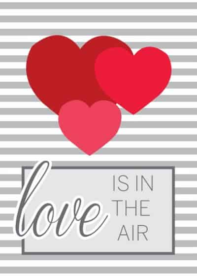 Love is in the Air Creeting Card