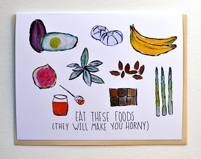 Eat these Foods Greeting Card
