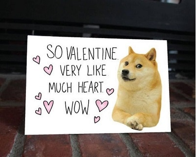 So Valentine Dog Greeting Card