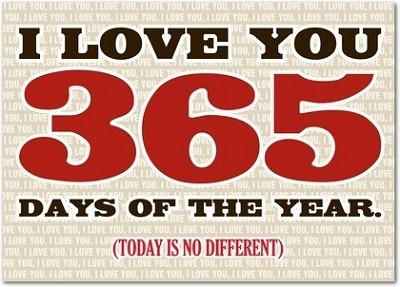 Love You 365 Days Greeting Card
