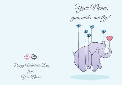 Elephantastic Card for Valentines Day