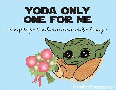 Yoda Valentines Card